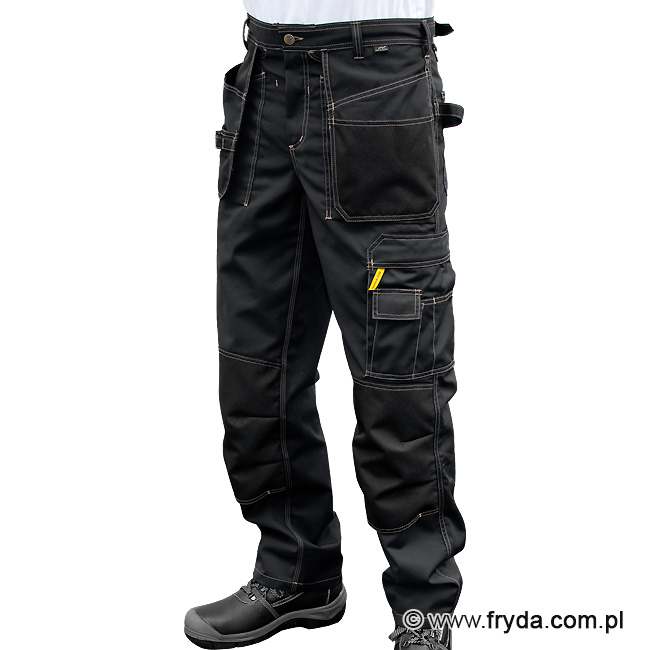 czarne spodnie robocze