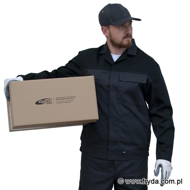 Odzież robocza w praktycznym czarno grafitowym kolorze